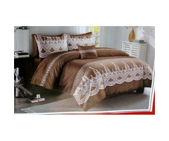 12pcs duvet sets with two pairs of bedroom sandals and a neckroll