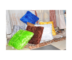 CURTAINS, CUSHIONS, PIPE, BED SHEETS, TIEBACKS, HOLDERS,
