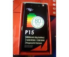 NEW ITEL P15 16GB ROM 1GB RAM GOLD
