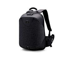 Waterproof Anti Theft Laptop Bag With USB Port - Black