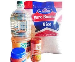 Bundle Of 5kg Basmati Rice, Pure Basmati , 2l Cooking Oil, Blue Ocean for sale
