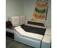 Classy Leather Bed 5*6 for sale