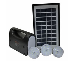 Solar panel, battery and lights