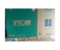 50 Inches SMART Android 8 Brand New Digital Satellite VYOM LED Flat Tv for sale