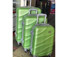 Set of travel suitcase bags