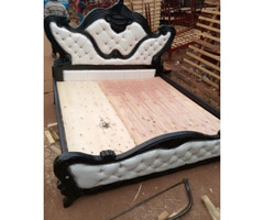 5 By 6 Leather Bed for sale