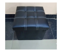 Foldable Ottoman Leather Seat for sale