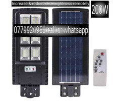 200W Solar Compound sensor security light plus stand pole lights
