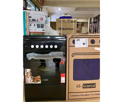 Blueflame C5031E-B- 3 Gas + 1  Electric Plate Gas Cooker & Oven 50*50Cm - Black
