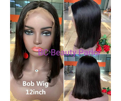 BC Straight 100% Human Bob Wig