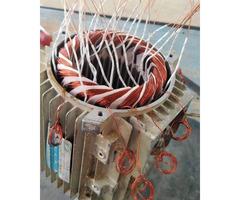 Motor rewinding and maintenance