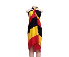 Uganda Flag Wrap / Sarong / Leesu / Beach Wrap / Scarf