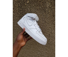 Air Force 1s high white in colour