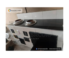 Masrcorp 2 Burners Solar Aided Eco Kitchen with Oven