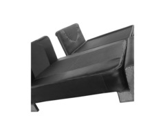 Faux leather bed