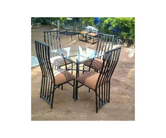 Metallic dining table of 4seater
