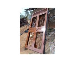 Metallic front door