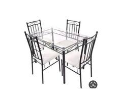 Metallic 4seater dining table