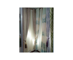 Curtain, curtain rods and office blinds