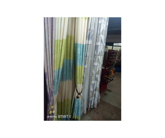 Curtains and curtain rods/ office blinds