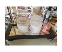 Glass scented candles