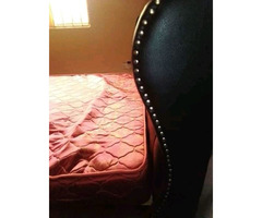 Leather bed and mattress delux